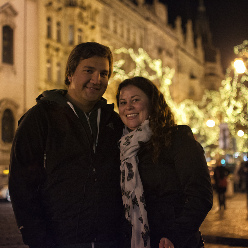 Featured Image Calli Travis celebrating Christmas 2013 in Prague 2 Interview With Travel Bloggers Calli And Travis Of Have Blog Will Travel